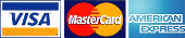 We Accept Visa, Mastercard,& Amex